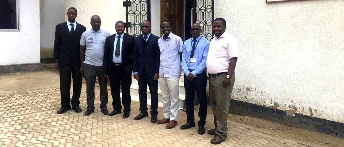 CME Consultants outside the offices of a micro finance bank in Tanzania during a data collection exercise